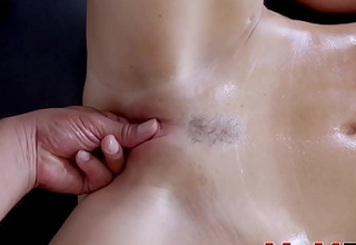 Stunning India Summer fingered before stepson cock insertion